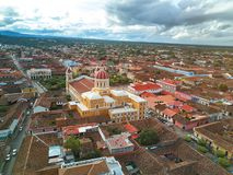 Cathedral in Granada Nicaragua Stock Images