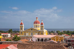 Cathedral of Granada from Nicaragua, Royalty Free Stock Photography