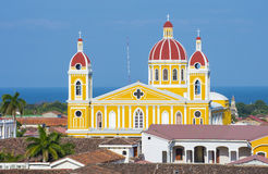 The Cathedral of Granada in Nicaragua Stock Photos