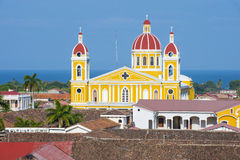 The Cathedral of Granada in Nicaragua Royalty Free Stock Images