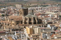 Cathedral of Granada Spain Royalty Free Stock Photo