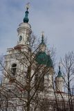 Cathedral of the Great Martyr Catherine. Kingisepp. The Orthodox Church in Russia. Cathedral of the Great Martyr Catherine closeup. Kingisepp. The Orthodox Royalty Free Stock Photography