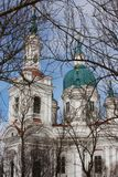 Cathedral of the Great Martyr Catherine. Kingisepp. The Orthodox Church in Russia. Cathedral of the Great Martyr Catherine closeup. Kingisepp. The Orthodox Stock Photos