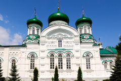 Cathedral with green domes Royalty Free Stock Images