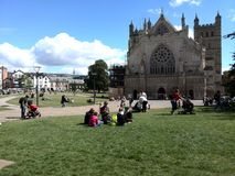 Cathedral Green, Exeter Stock Image