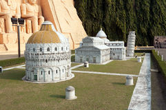 Cathedral group of Pisa in Mini Siam Park Stock Photo