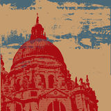 Cathedral Grunge Background Stock Images