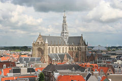 Cathedral of Haarlem Stock Photos