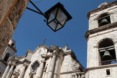 Cathedral in Havana from the street Stock Image