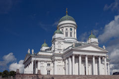 Cathedral in Helsinki. Kind on a cathedral in a city of Helsinki royalty free stock photo