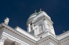 Cathedral in Helsinki. Cathedral fragment in a city of Helsinki royalty free stock photos