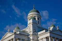 Cathedral in Helsinki. Cathedral on Senate Square in Helsinki Royalty Free Stock Images