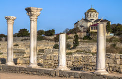 Cathedral in Hersones, Crimea Stock Image