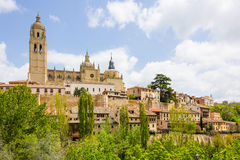 Cathedral in the historic city of Segovia, Castilla y Leon, Spai Royalty Free Stock Photography