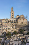 Cathedral in the historical center of Matera Stock Photography