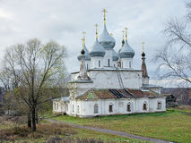 Cathedral of the Holy Cross Exaltation in Tutaev, Russia stock images