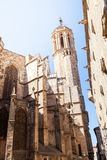 Cathedral of the Holy Cross and Saint Eulalia. Back elevation Royalty Free Stock Photography