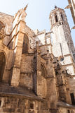Cathedral of the Holy Cross and Saint Eulalia. Back elevation Royalty Free Stock Photo