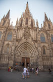 Cathedral of the Holy Cross and Saint Eulalia Stock Images