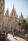 Cathedral of the Holy Cross and Saint Eulalia Royalty Free Stock Photography