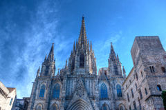 Cathedral of the Holy Cross and Saint Eulalia, Barcelona, Spain Stock Images