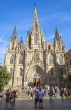 Cathedral of the Holy Cross and Saint Eulalia Royalty Free Stock Images