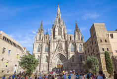 Cathedral of the Holy Cross and Saint Eulalia Royalty Free Stock Photos