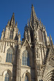 The Cathedral of the Holy Cross and Saint Eulalia. Stock Photography