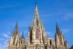 Cathedral of the Holy Cross and Saint Eulalia Stock Photography