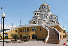Cathedral of Holy Face of Christ the Savior. Near the Olympic Park in Sochi Stock Image