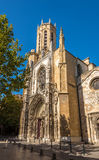 Cathedral of Holy Saviour in Aix-en-Provence Royalty Free Stock Photo