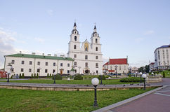 Cathedral of Holy Spirit in Minsk Stock Photos