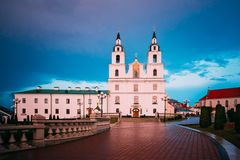 Cathedral Of Holy Spirit In Minsk, Belarus At Stock Image