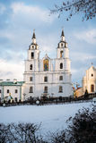 Cathedral of Holy Spirit, Minsk, Belarus. Winter view of the main orthodox church - Cathedral of Holy Spirit in Minsk Stock Photography