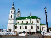 Cathedral of Holy Spirit in Minsk Stock Photo