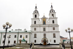 The cathedral of Holy Spirit in Minsk - the main Orthodox church Stock Image