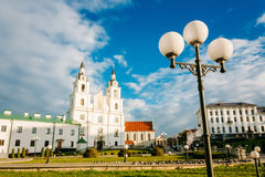Cathedral of Holy Spirit in Minsk - the main Orthodox church of Royalty Free Stock Photography