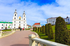 The Cathedral Of Holy Spirit - Symbol Of Minsk, Belarus Royalty Free Stock Photo