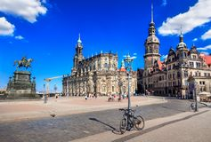 Cathedral of the Holy Trinity or Hofkirche royalty free stock photography