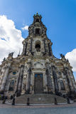 Cathedral of the Holy Trinity (Katholische Hofkirche) Royalty Free Stock Photo