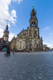 Cathedral of the Holy Trinity (Katholische Hofkirche). Royalty Free Stock Images