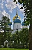 The Cathedral of the Holy Trinity St. Sergius Lavra. The Shrine of all Christians. Royalty Free Stock Images