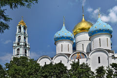 The Cathedral of the Holy Trinity St. Sergius Lavra. The Shrine of all Christians. Royalty Free Stock Photo