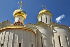 The Cathedral of the Holy Trinity St. Sergius Lavra. The Shrine of all Christians. Stock Photo
