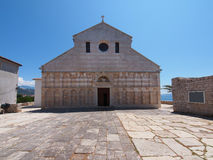 Cathedral of the Holy Virgin Mary's Assumption. Old stone cathedral on the Island of Rab, Croatia - The Cathedral of the Holy Virgin Mary's Assumption Stock Image