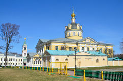 The Cathedral of the Holy virgin Pokrovsky at the Rogozhskoye cemetery the summer Church of old believers Rogozhskaya community. Cathedral of the Holy virgin royalty free stock photos