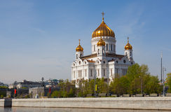 Cathedral In Honor Of Christ The Savior In Moscow Royalty Free Stock Photos