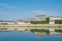 Cathedral and houses, Blois Royalty Free Stock Photo