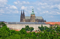 Cathedral on Hradcany hill in Prague, Czech Republic Stock Image