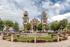 Cathedral in Huaraz, Peru, South America Stock Photos